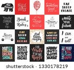 set of 20 vector motivational...   Shutterstock .eps vector #1330178219