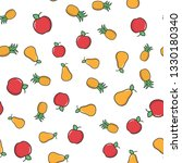 fruits color seamless pattern.... | Shutterstock .eps vector #1330180340