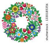 polish folk art vector floral...   Shutterstock .eps vector #1330185356