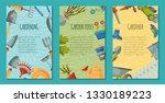 garden tools set of posters or...   Shutterstock .eps vector #1330189223