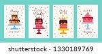 cake birthday banners or... | Shutterstock .eps vector #1330189769