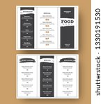 white menu template with black... | Shutterstock .eps vector #1330191530