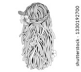 girl long hair. coloring book... | Shutterstock .eps vector #1330192700