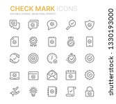collection of check mark icons... | Shutterstock .eps vector #1330193000