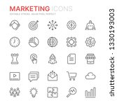 collection of marketing line... | Shutterstock .eps vector #1330193003