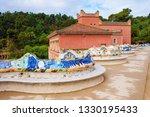 goule park in barcelona. snail... | Shutterstock . vector #1330195433