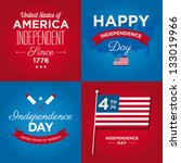 happy independence day card... | Shutterstock .eps vector #133019966