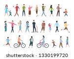 walking people. persons in... | Shutterstock . vector #1330199720