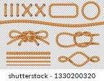rope elements. marine cord...   Shutterstock . vector #1330200320