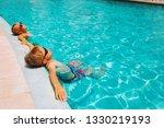 little boy and girl relax in... | Shutterstock . vector #1330219193