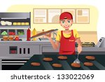 a vector illustration of a cook ...   Shutterstock .eps vector #133022069