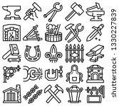 Anvil Blacksmith Forge Icons...