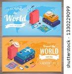travel banners in isometric...   Shutterstock .eps vector #1330229099