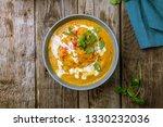 soup cream of pumpkin | Shutterstock . vector #1330232036