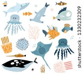 big creative nautical clipart... | Shutterstock .eps vector #1330232309