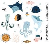 big creative nautical clipart... | Shutterstock .eps vector #1330233893