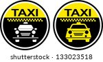 taxi  icon label | Shutterstock .eps vector #133023518