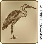 Heron Bird  Hand Drawing....