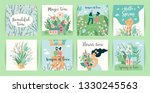 set of cute illustrations with... | Shutterstock .eps vector #1330245563