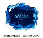 paper art of world oceans day....   Shutterstock .eps vector #1330259090