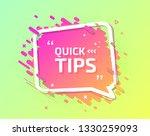 quick tips  helpful tricks ... | Shutterstock .eps vector #1330259093