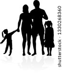 vector silhouette of family.   Shutterstock .eps vector #1330268360