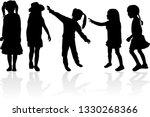 vector silhouette of children...   Shutterstock .eps vector #1330268366