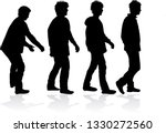 black silhouette of a man. | Shutterstock .eps vector #1330272560