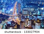 Highways and city in Tokyo, Japan - stock photo