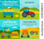 agricultural machines banner...   Shutterstock .eps vector #1330288013