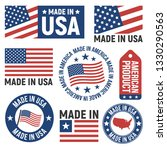made in usa labels  badges ... | Shutterstock .eps vector #1330290563