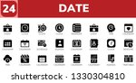 date icon set. 24 filled date... | Shutterstock .eps vector #1330304810