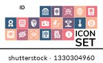 id icon set. 19 filled id icons.... | Shutterstock .eps vector #1330304960