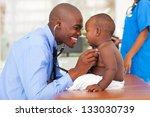 happy african male doctor... | Shutterstock . vector #133030739