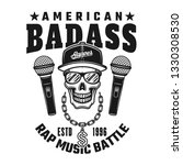 rapper skull and text american... | Shutterstock .eps vector #1330308530