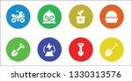 dirt icon set. 8 filled dirt... | Shutterstock .eps vector #1330313576