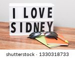 lightbox with text i love... | Shutterstock . vector #1330318733