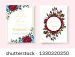wedding floral golden...   Shutterstock .eps vector #1330320350