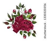 bouquets of bordo flower roses...   Shutterstock .eps vector #1330320356
