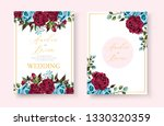 wedding floral golden...   Shutterstock .eps vector #1330320359
