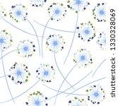 dandelion blowing plant vector... | Shutterstock .eps vector #1330328069