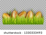 happy easter big hunt with... | Shutterstock .eps vector #1330333493