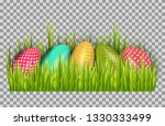 easter eggs background with... | Shutterstock .eps vector #1330333499