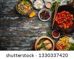 set of assorted chinese dishes... | Shutterstock . vector #1330337420