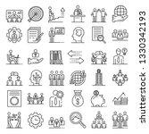 corporate governance icons set. ... | Shutterstock .eps vector #1330342193