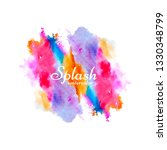 modern colorful watercolor...   Shutterstock .eps vector #1330348799