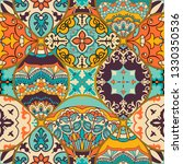 seamless colorful patchwork... | Shutterstock .eps vector #1330350536