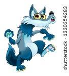 funny walking wolf. vector...   Shutterstock .eps vector #1330354283
