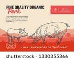 fine quality organic pork.... | Shutterstock .eps vector #1330355366