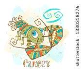 zodiac for kids. cancer. cute...   Shutterstock .eps vector #1330358276